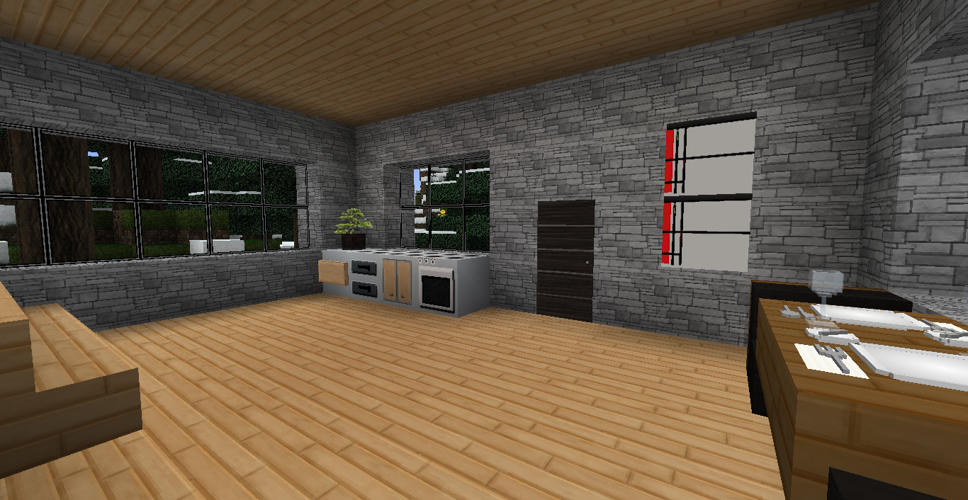 Minecraft casa 43 for Casa moderna 10 x 10 minecraft