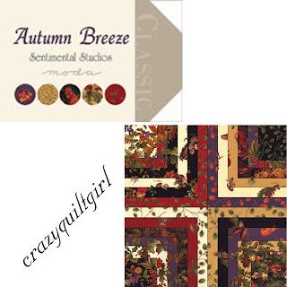 Moda Autumn Breeze Quilt Fabric by Sentimental Studios