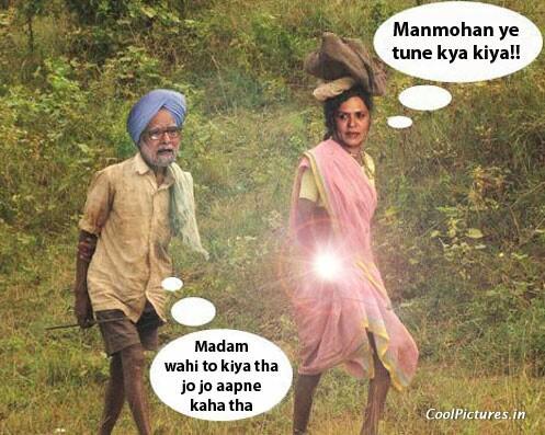 Manmohan Singh  amp  Sonia Gandhi     FunnyVery Funny Images Of Manmohan Singh