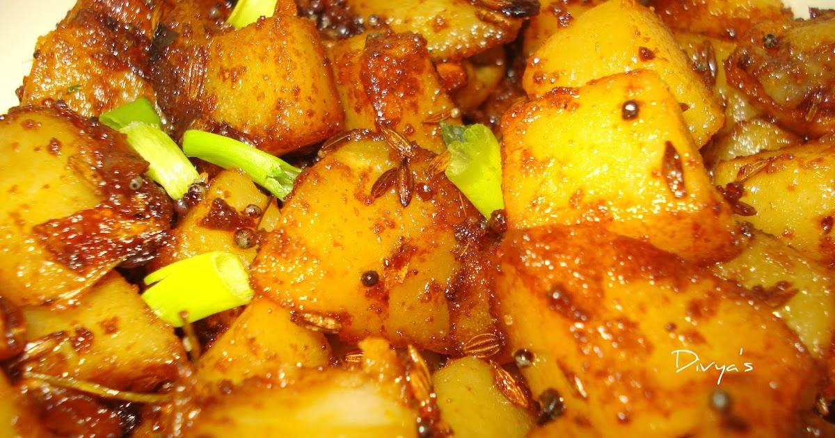 Hot Spicy Potato Fry | Potato Masala Using Sambar Powder | You Too Can ...