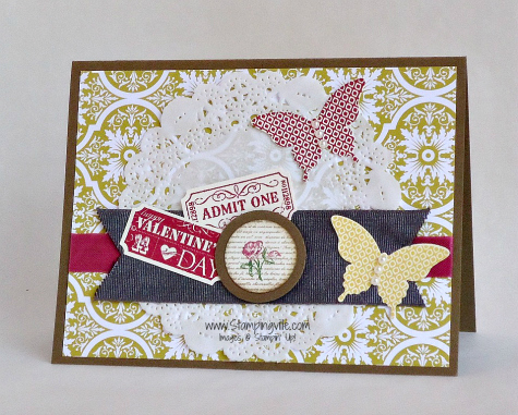 Stampin' Up! That's The Ticket Stamp Set card idea