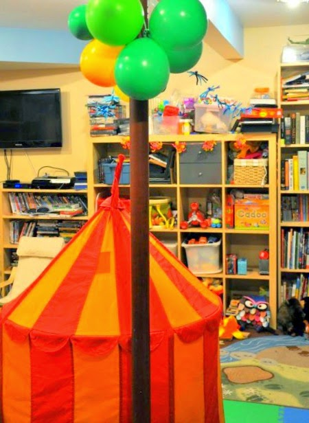 Indoor Camping Party - a REAL party!
