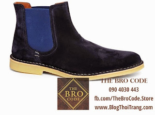 Selected Desert Chelsea Boot Xanh Navy | Giày Cổ Cao Selected Desert Chelsea Boot