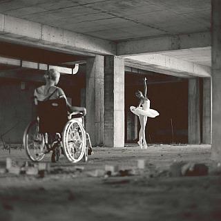 balet, taniec, wózek, marzenia