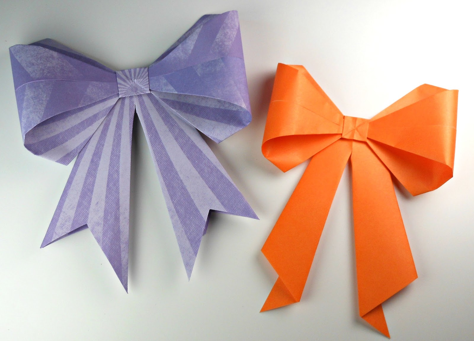 Mundo party c mo hacer un lazo de origami - Manualidades con lazos ...