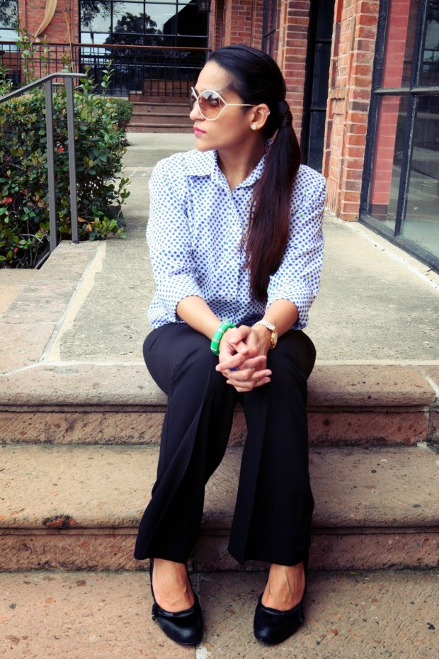 Button Down - GAP, Trousers - Espirit, Shoes - Faith, Tanvii.com