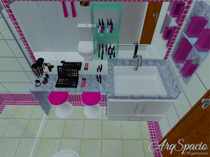 BI Banheiro das Meninas  ArqSpacio Arquitetura e Interiores -> Sonhar Banheiro Feminino