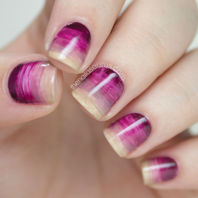 31 Day Challenge x Nailvengers: Gradient Artwork - The Nailasaurus | UK Nail Art Blog