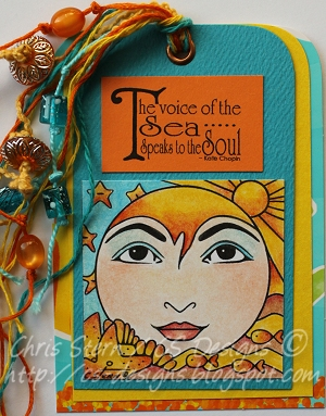 Loreley Voice of the Sea Mixed Media Art Tag