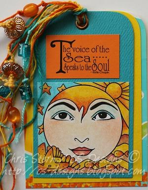 Loreley Voice of the Sea Mixed Media Art Tag