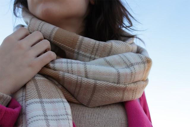 plaids scarf