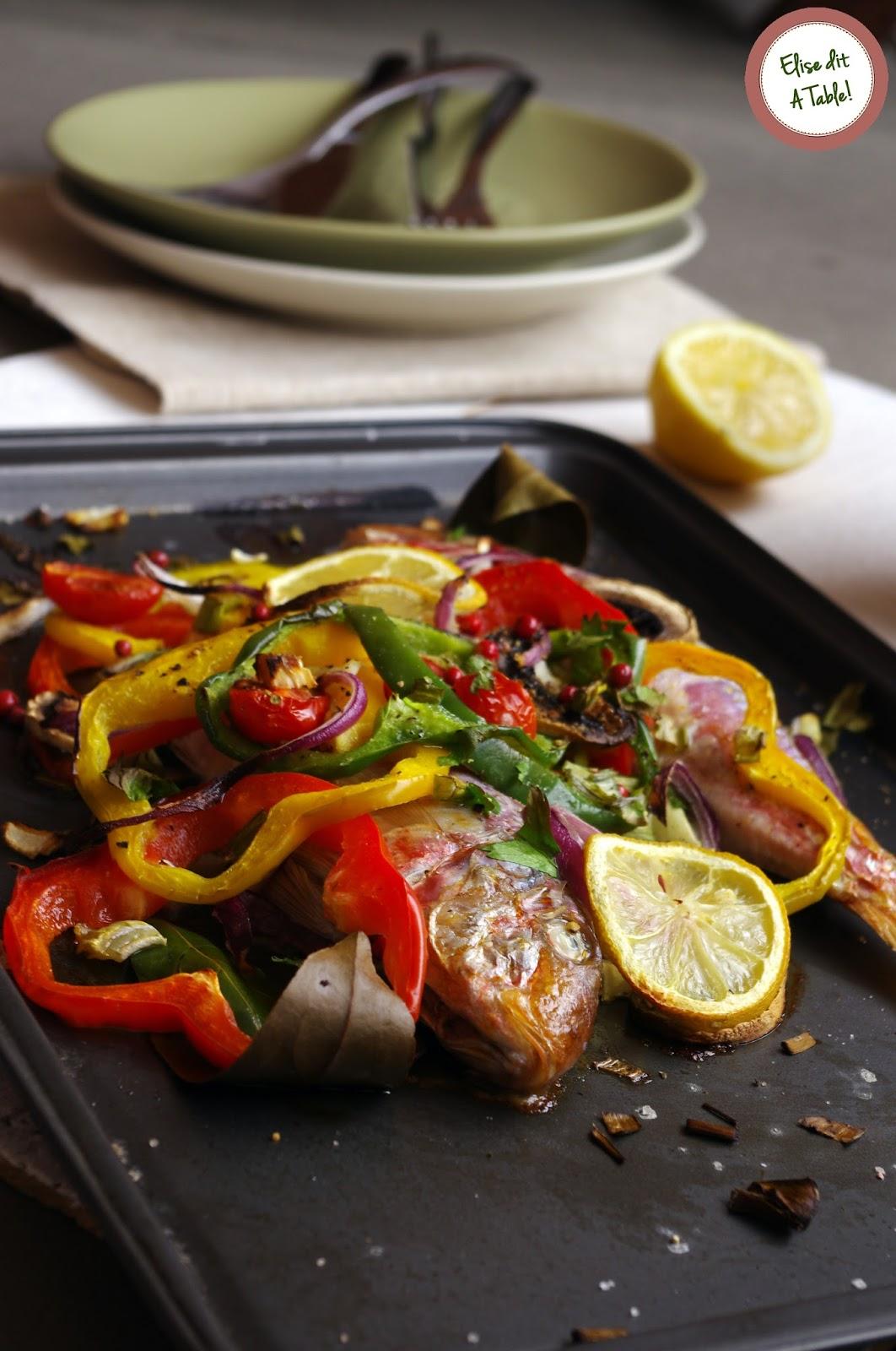 recette rougets aux petits légumes
