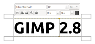 gimp 2.8 font on-canvas