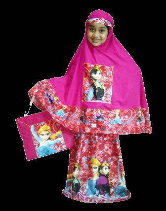 Mukena Anak Frozen Pink - KODE PTF02