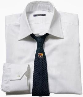 camisa y corbata con pin Barça Replay FC Barcelona