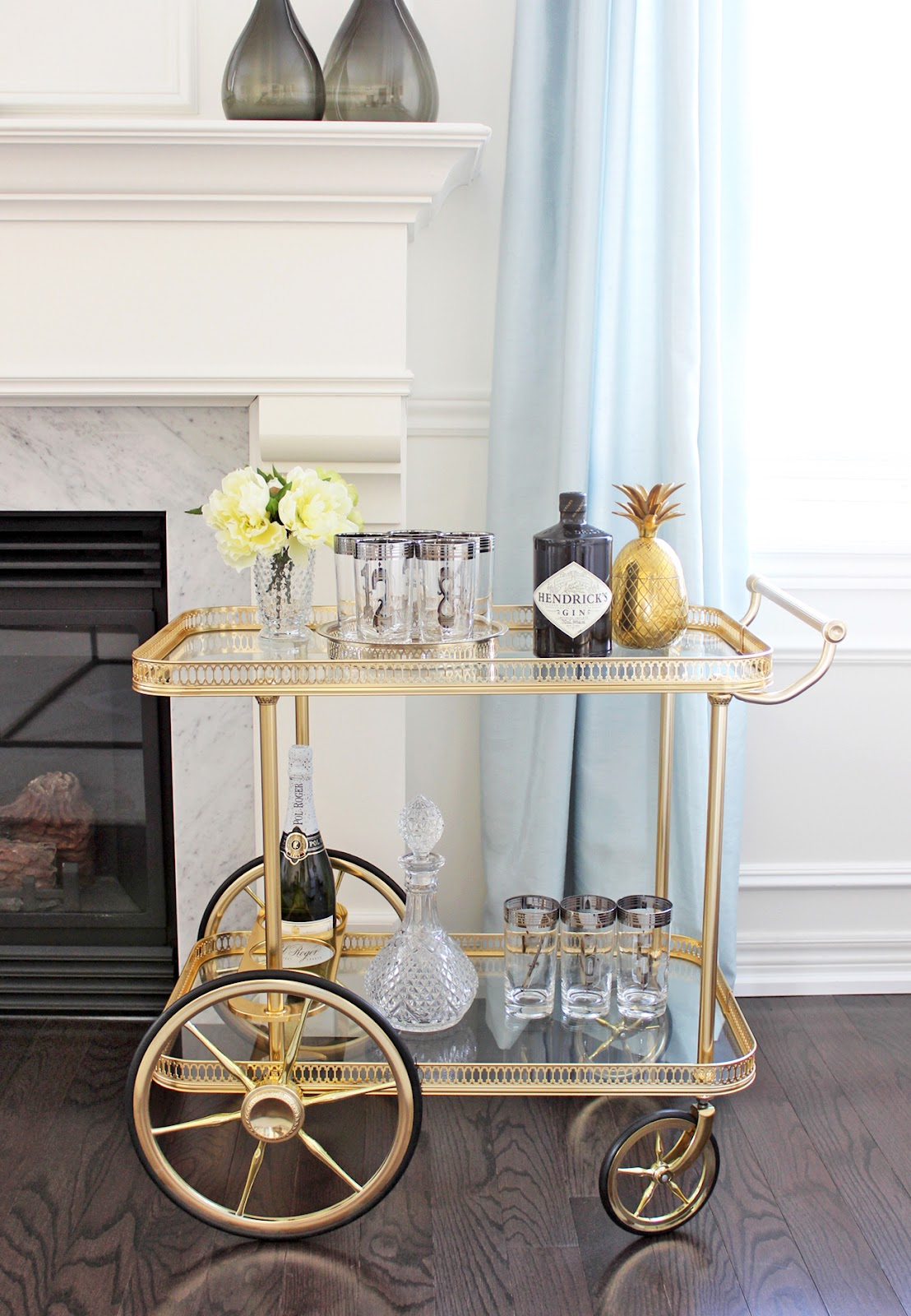 Exceptional Vintage Bar Cart Styling