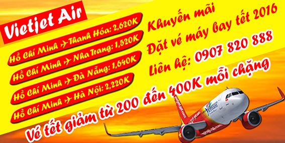 Vé máy bay tết đi Thanh Hóa của Vietjet chỉ 2,60,000 đồng