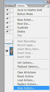 Сохраняем set в Adobe Photoshop