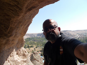In  Selime Cave Cathedral situated on a limestone hill.