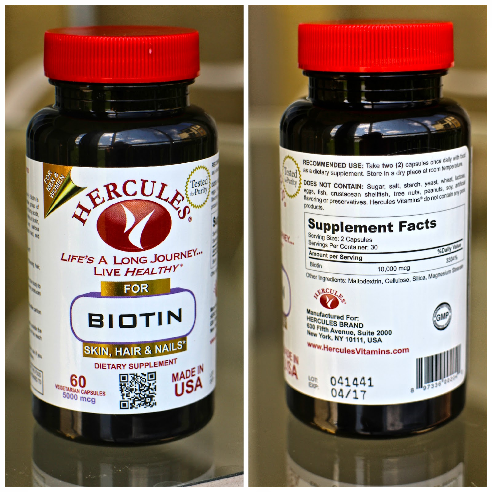 Hercules Biotin Vitamin Supplement