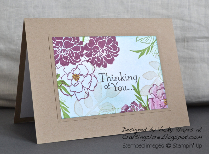 Card made with Fabulous Florets and Secret Garden from Stampin' Up