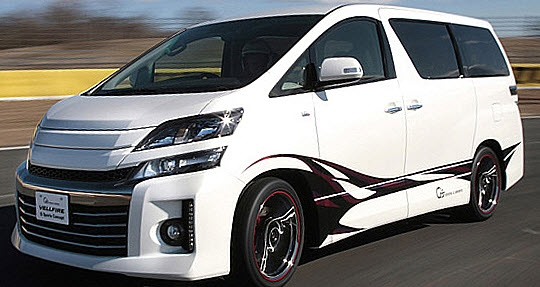 Modified Toyota Vellfire G on g body tucked bumper