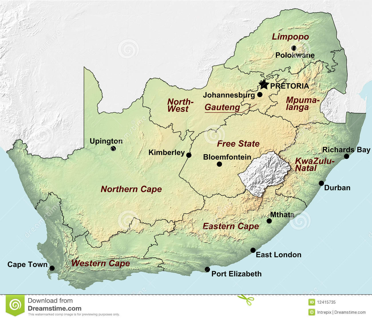 map of south africa pdf