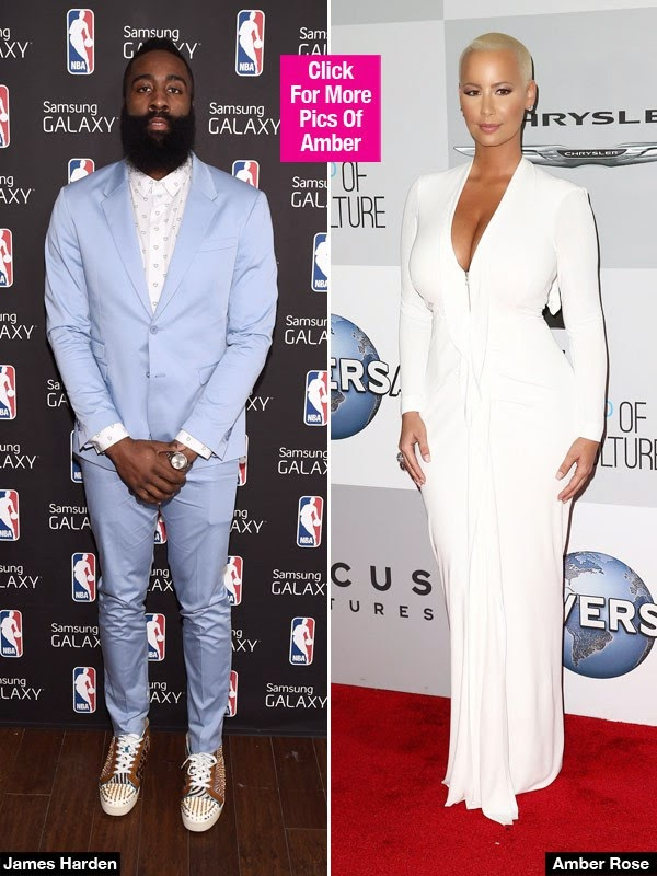Amber rose amp james harden hot new couple her sexy new interview
