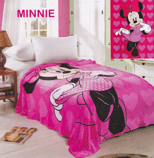 Selimut Sutra Panel Belladona Minnie