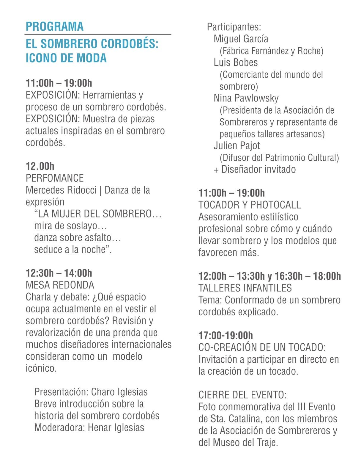 ASOCIACIÓN DE SOMBREREROS: Santa Catalina 2015 en el Museo del Traje