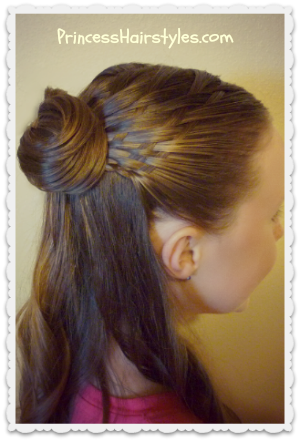 Basket weave braid with hair bow