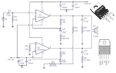 30 watt Audio Amplifier using TDA 2040