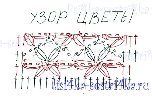 Вязание цветков крючком узоры и схемы 414