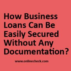 In Loans: Secured Business Loan