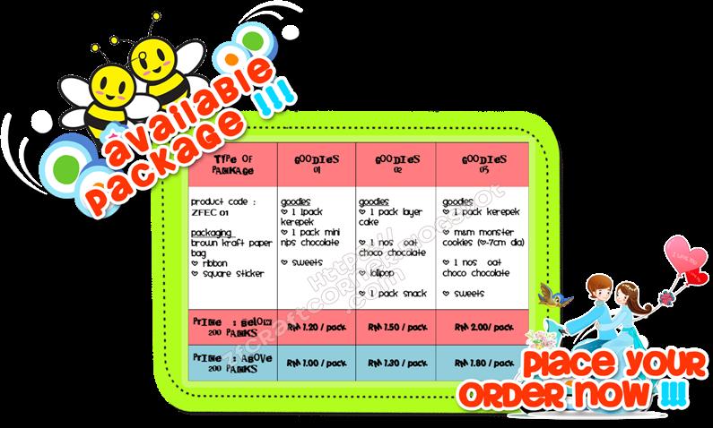 PAKEJ JIMAT - RM 1.00 - RM 2.00/PACK