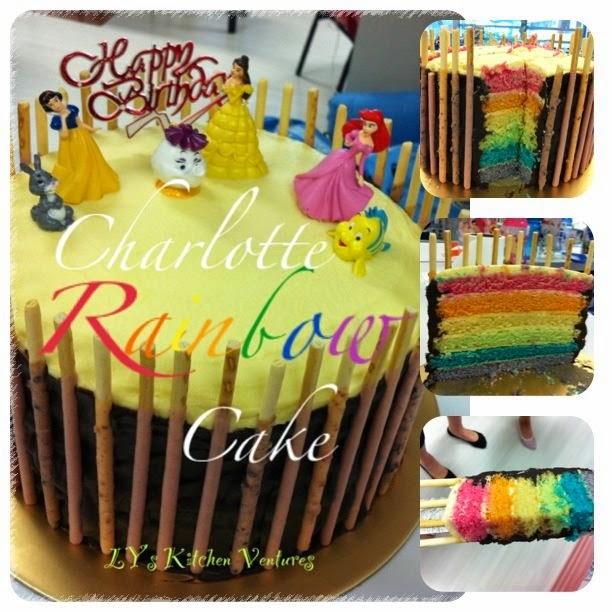 Charlotte Rainbow Cake
