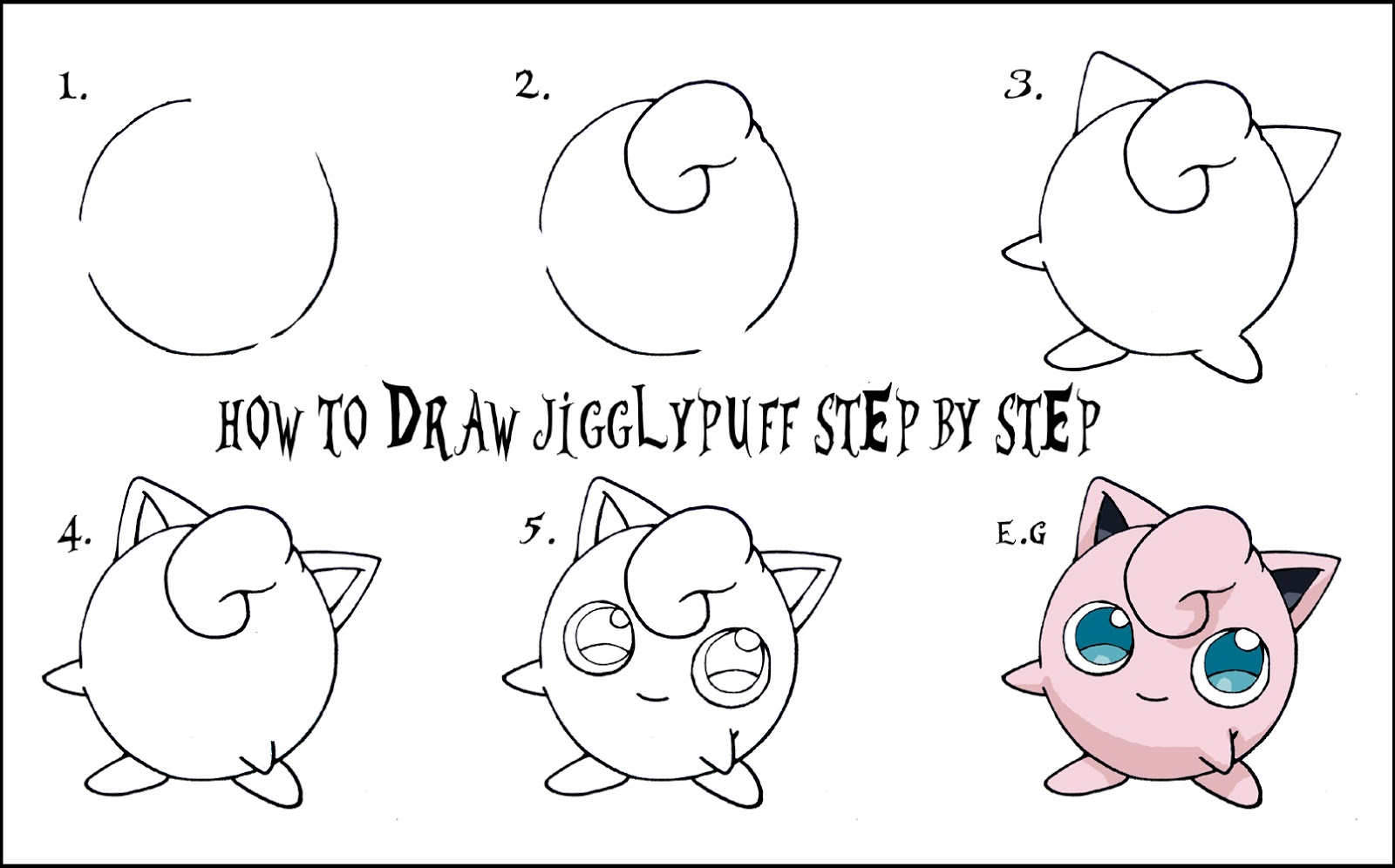 how to draw pokemon step by step for kids
