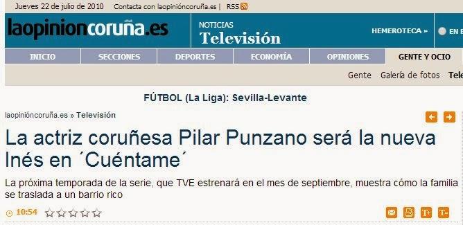 Pilar Punzano desmiente origen coruñés, Noia, actriz gallega