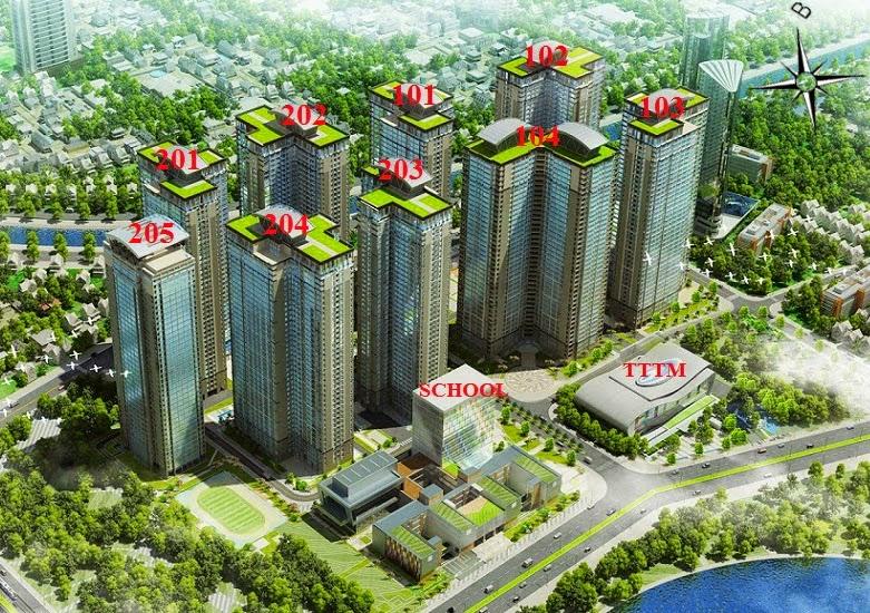 MẶT BẰNG Chung Cư Goldmark City TÒA 103