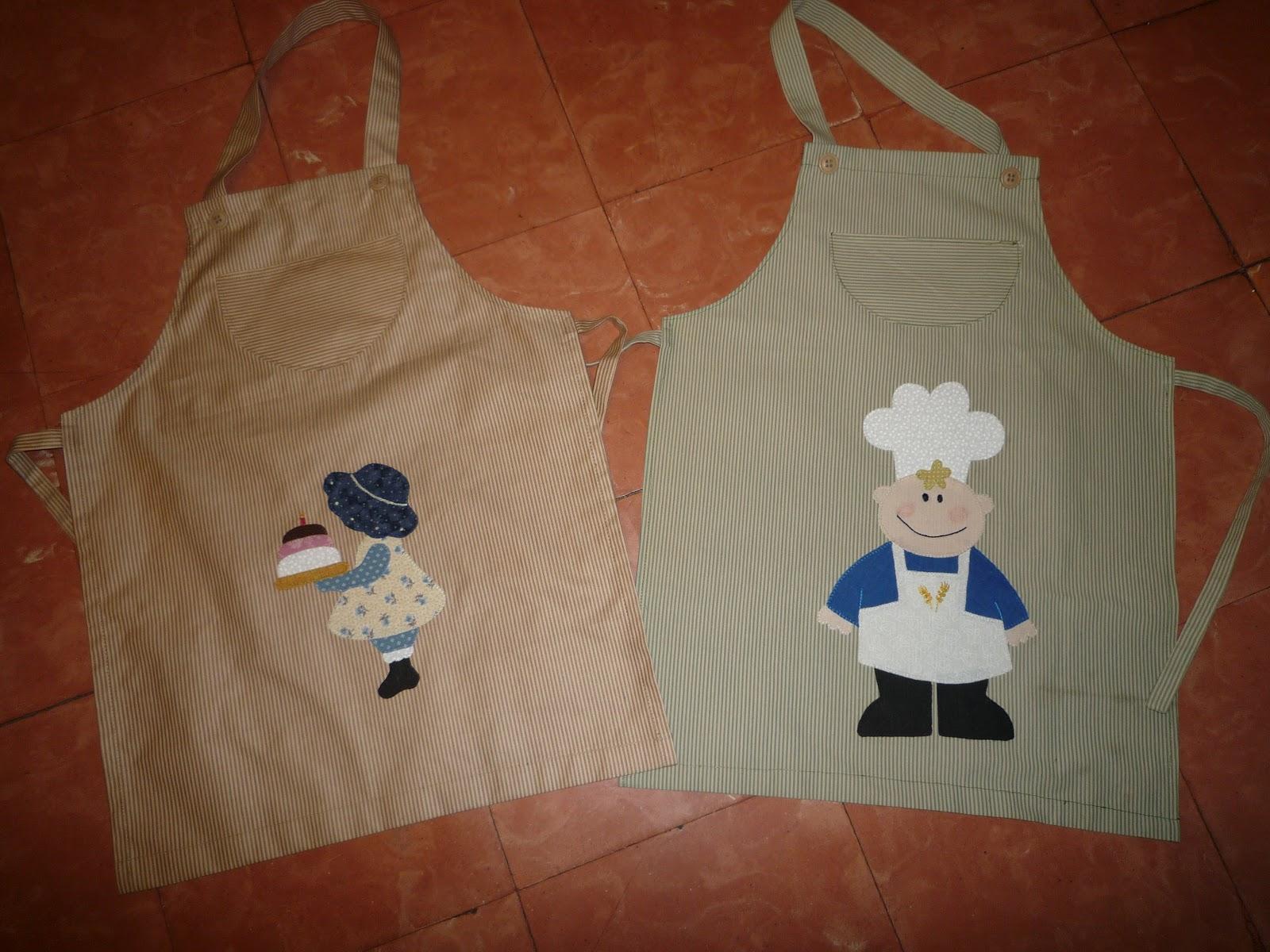 Patchwork maniaca mini casitas y delantales infantiles - Patchwork para cocina ...