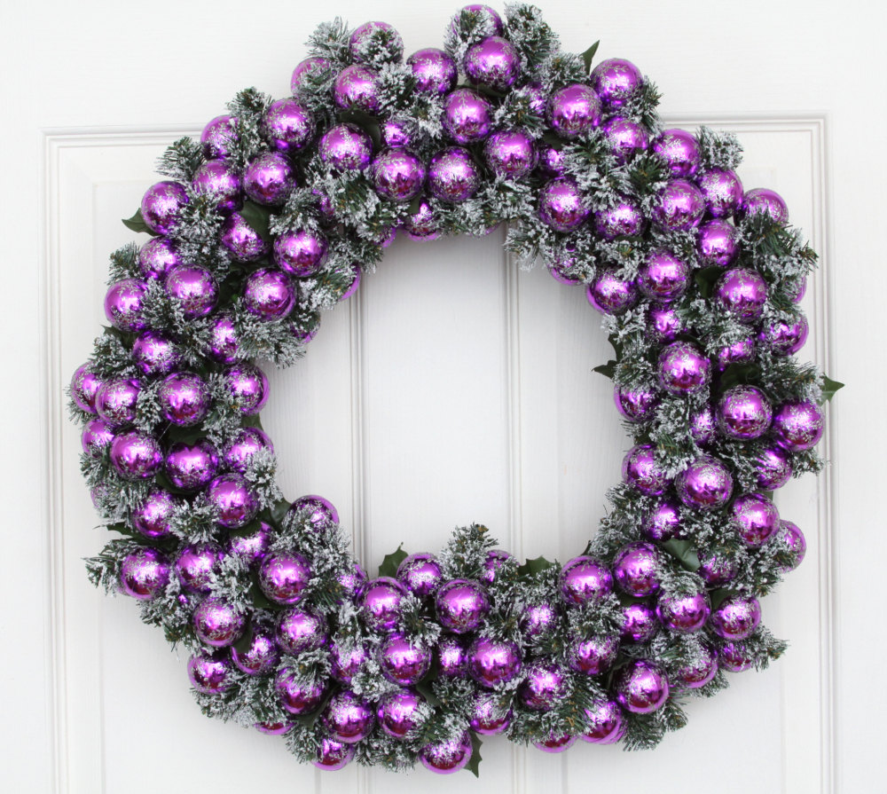 Christmas Decorations In Purple: Charlotte NC Holiday-Christmas-Event Decorating Services