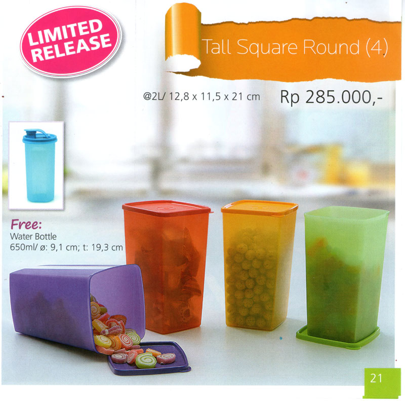 Katalog Tupperware Promo Juni 2013-Tall Square Round, tupperwareraya