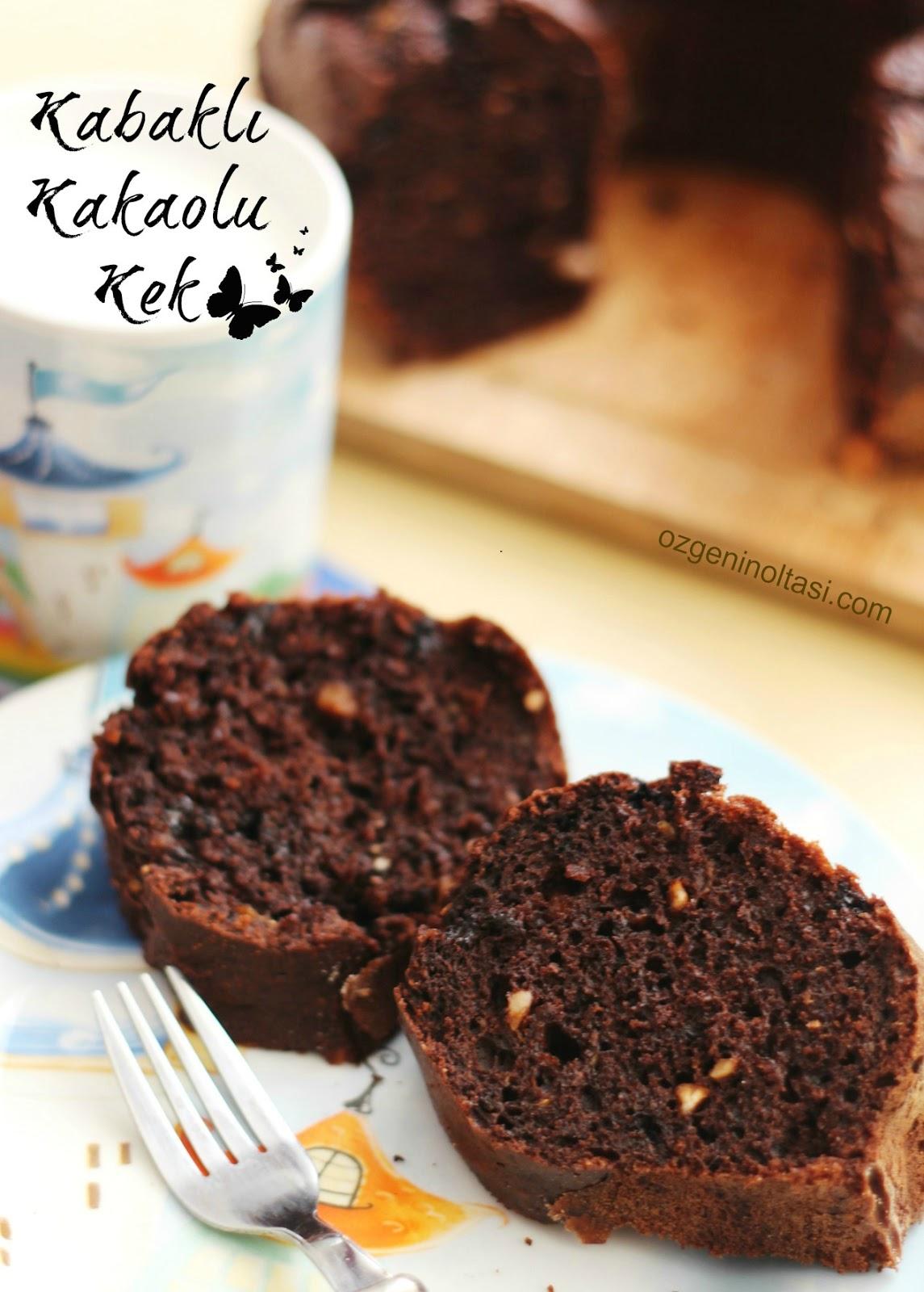 Balkabaklı Kakaolu Kek