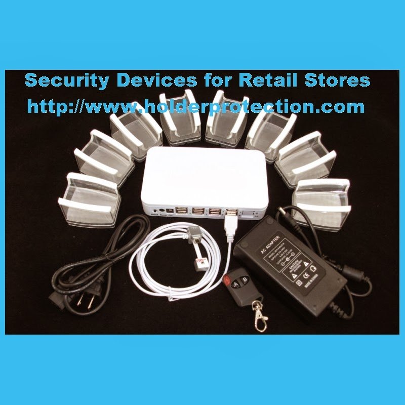 Security display alarm stands for mobile phone retail