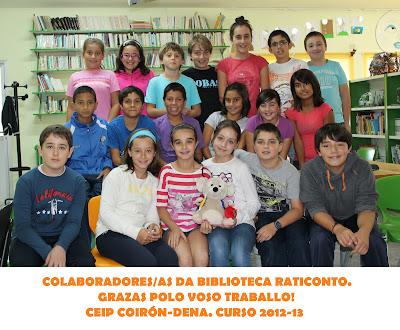 fotografía dos alumnos/as que este ano colaborarán nas tarefas de préstamo da Biblioteca