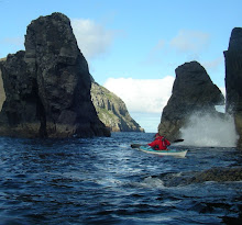 Sea Kayaking.  Vessel supported trips from the Outer Hebrides and Islands of St.Kilda. .
