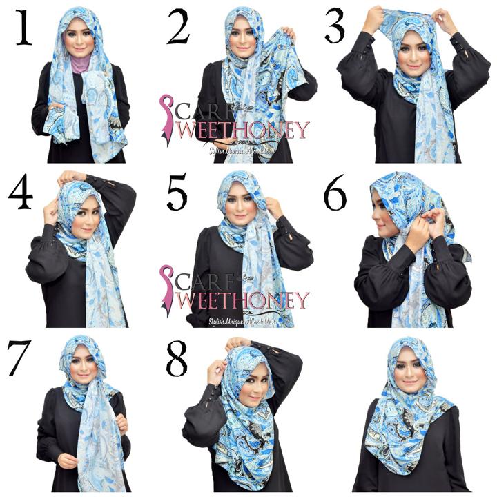 ... Memakai Shawl Paisley HASYA - Tutorial Memakai Jilbab & Hijab Modis
