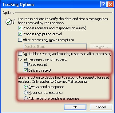 email tracking outlook2007