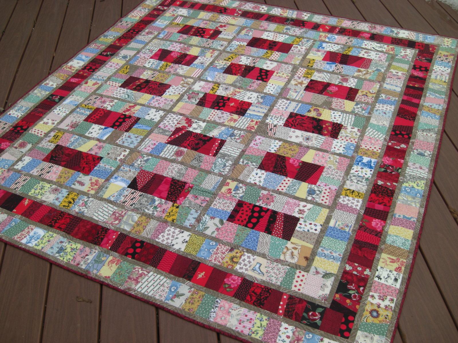 Selvage Blog: Novelty String Quilt