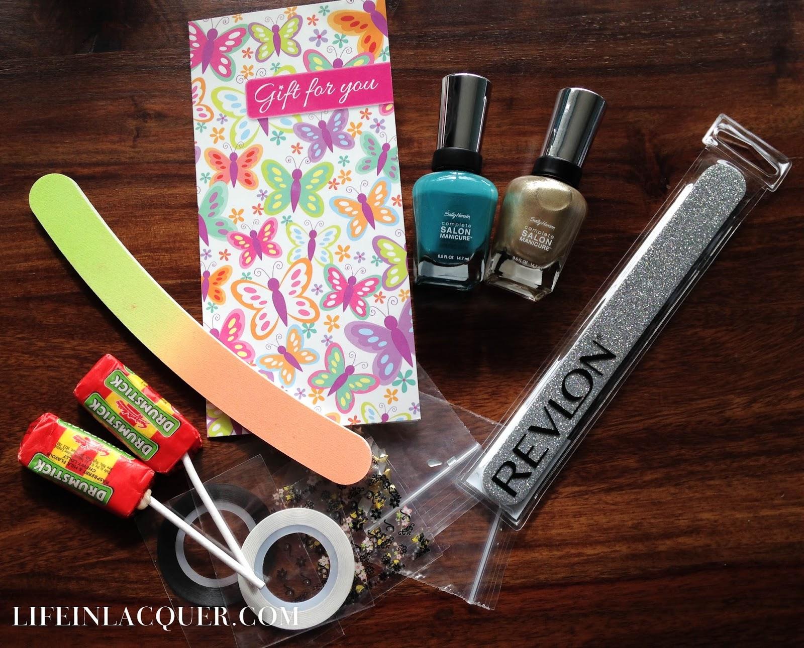 Giveaway prize nail art win